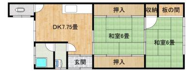柳井市・新市  売家(築古2階建+築古平家建)